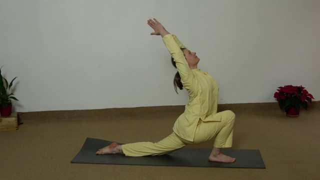 Practicing Bari Khatu Pranam and Sarva hitta asanas